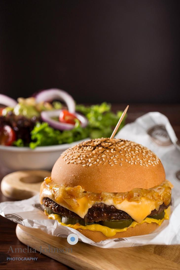 Texas BBQ Burger Amelia Johnson Photography